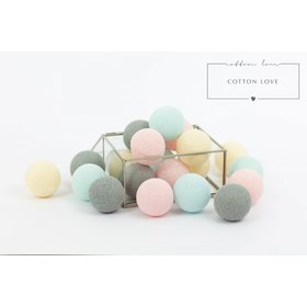 Cotton shining LED balls Cotton Balls - powdery, cotton love